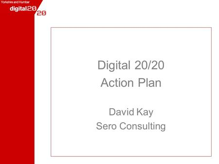 Digital 20/20 Action Plan David Kay Sero Consulting.