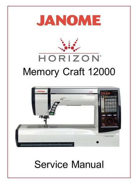 Memory Craft 12000 Service Manual. Top Cover Removal Bed Cover & Base Plate Removal Belt Cover Removal Front Panel Removal Printed Circuit Board 'A'
