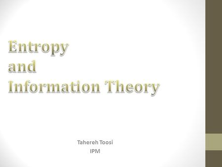 Tahereh Toosi IPM. Recap 2 [Churchland and Abbott, 2012]