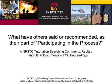 "What have others said or recommended, as their part of ""Participating in the Process?"" What have others said or recommended, as their part of ""Participating."