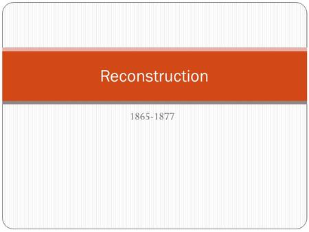 why did reconstruction fail essay The civil war and reconstruction era  b was reconstruction a failure why do we ask that question  why did the reconstruction years bring about.