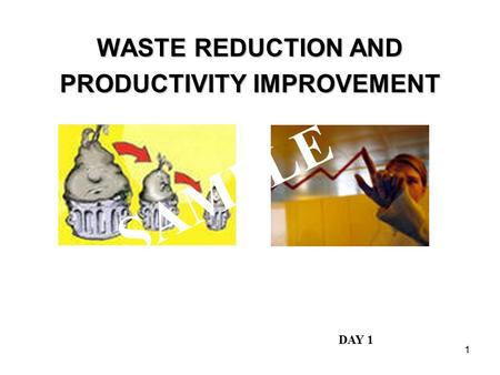 WASTE REDUCTION AND PRODUCTIVITY IMPROVEMENT