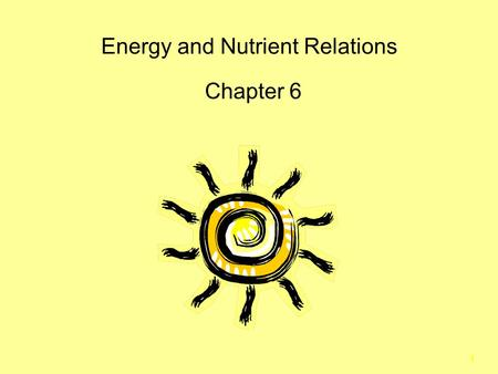1 Energy and Nutrient Relations Chapter 6. 2 Energy Sources Organisms can be classified by trophic levels.  Autotrophs use inorganic sources of carbon.