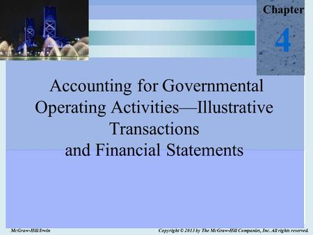 Accounting For Governmental Operating Activities