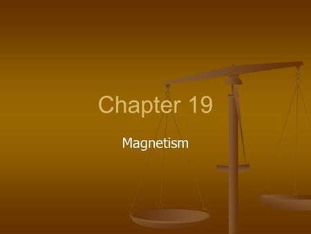 Chapter 19 Magnetism.