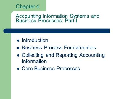 Introduction Business Process Fundamentals