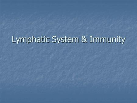 Lymphatic System & Immunity. Lymph is a specialized fluid formed in tissue spaces. This fluid carries protein molecules, immune cells, fat and excess.