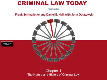 Chapter 1 The Nature and History of Criminal Law.