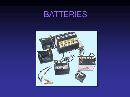 BATTERIES. A battery is a galvanic cell, or a set of cells connected in series, that provides a direct current of consistent strength for a useful period.