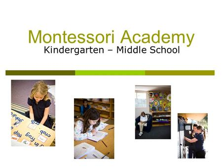 Montessori Academy Kindergarten – Middle School. No Child Left Behind  LEA Plan  Highly Qualified Teachers  Professional Development Plan  Adequate.