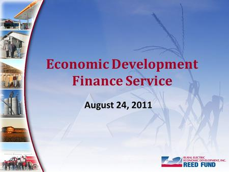 Economic Development Finance Service August 24, 2011.