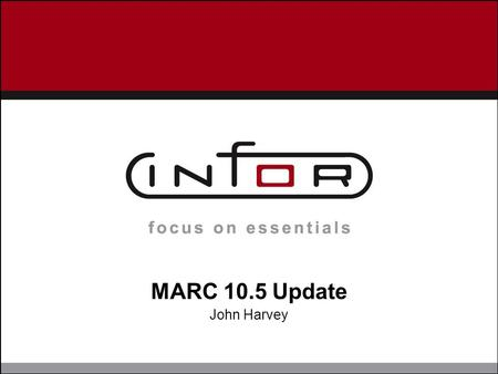 MARC 10.5 Update John Harvey. MARC 10.5 Changes  Backup Scripts restructured  Added a script to generate scripts outside of MARC  Generate Scripts.