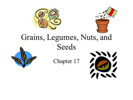 Grains, Legumes, Nuts, and Seeds
