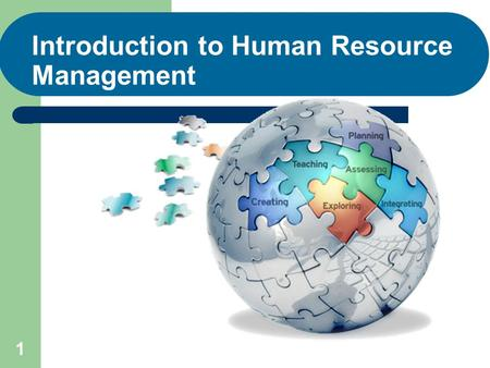1 Introduction to Human Resource Management. 2 After studying this chapter, you should be able to: 1. Explain what human resource management is and how.