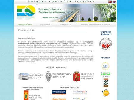 Second European Conference of Municipal Energy Managers Page: 1.