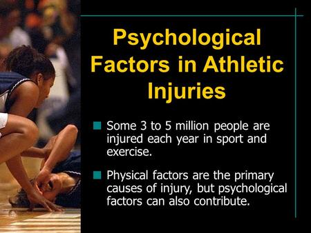 the many factors that could cause injuries in athletics and how to avoid them What causes them the cause of sports injuries can include: accidents poor training practices if you have a severe injury, you need to be seen immediately in an.
