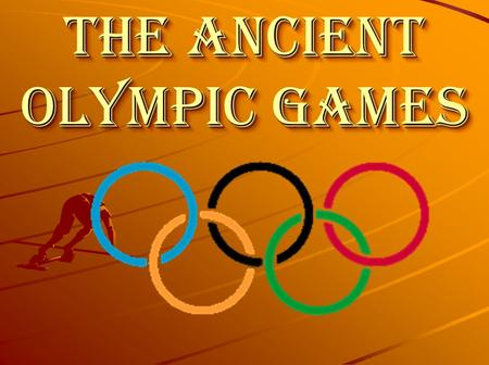 The Ancient Olympic Games. The Greeks invented athletic contests and held them in honour of their gods. The Isthmos Games were staged every two years.