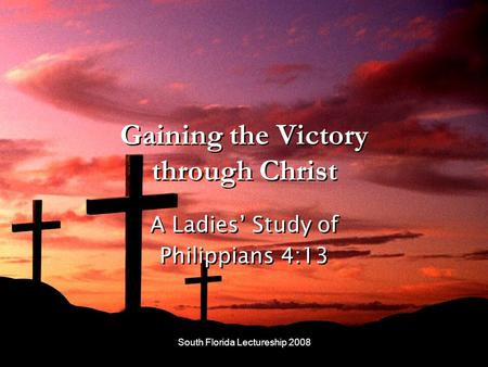 Gaining the Victory through Christ