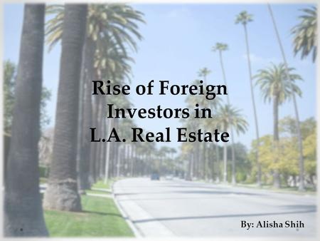 Rise of Foreign Investors in