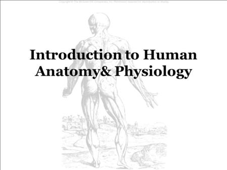 Introduction to Human Anatomy& Physiology. ANATOMY ANATOMY - the study of the structure (morphology, form) of body parts. istology  Histology - the microscopic.