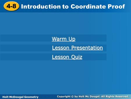 Introduction to Coordinate Proof