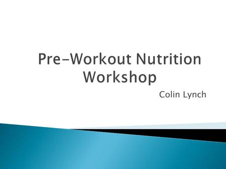 Colin Lynch.  Busy college students can overlook aspects of their day while they are going from class to class or completing homework.  Nutrition is.