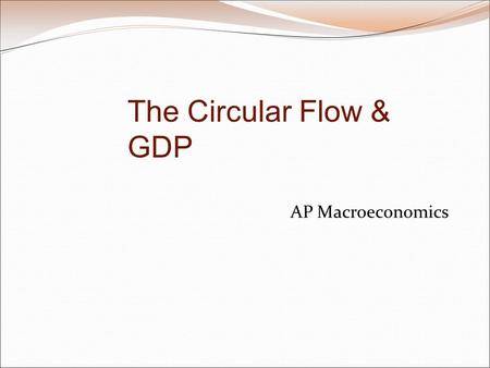 AP Macroeconomics The Circular Flow & GDP. Gains from Exchange