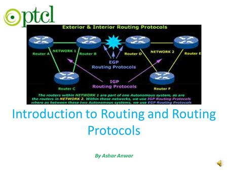 Introduction to Routing and Routing Protocols By Ashar Anwar.