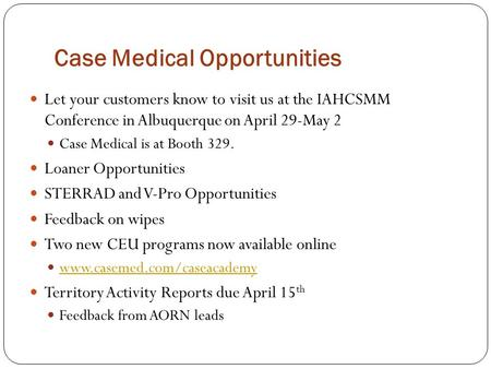 Case Medical Opportunities