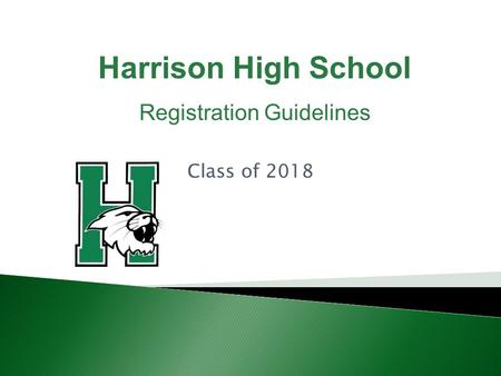 Class of 2018 Harrison High School Registration Guidelines.