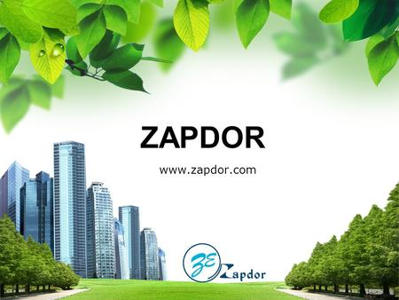 ZAPDOR ZAPDOR www.zapdor.com. Contents Over View Our Services Major Work 1 2 3.