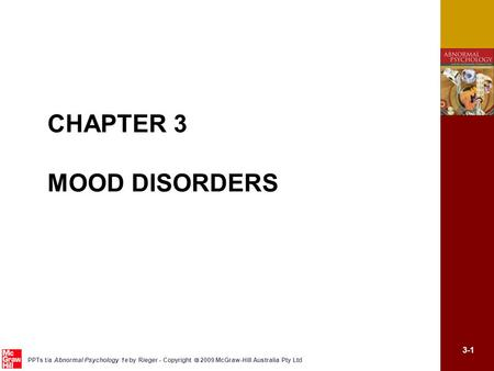 CHAPTER 3 MOOD DISORDERS