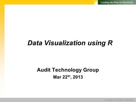 Data Visualization using R