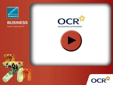 OCR Level 2 Cambridge Technicals in Business