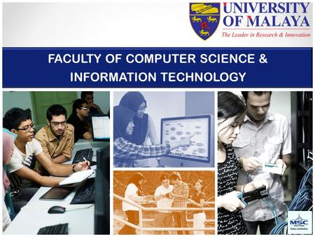 FACULTY OF <strong>COMPUTER</strong> <strong>SCIENCE</strong> & INFORMATION <strong>TECHNOLOGY</strong>.