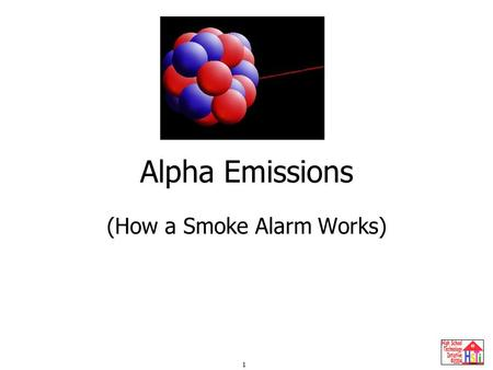 1 Alpha Emissions (How a Smoke Alarm Works). 2 Radioactive Emissions (Radiation) Penetrating Power SymbolEquivalentDescriptionType He Stopped by thick.