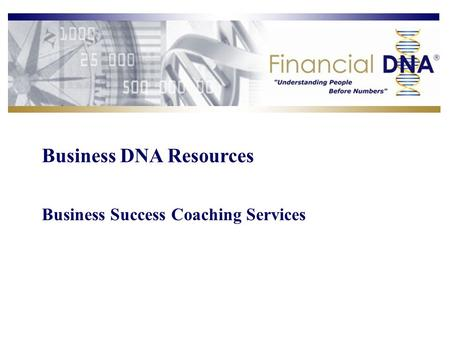 Business DNA Resources Business Success Coaching Services.