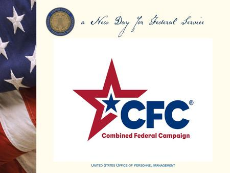 2015 Combined Federal Campaign (CFC) Orientation & Application Training.