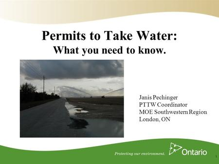 Permits to Take Water: What you need to know.