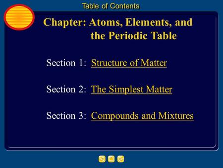 Chapter: Atoms, Elements, and the Periodic Table