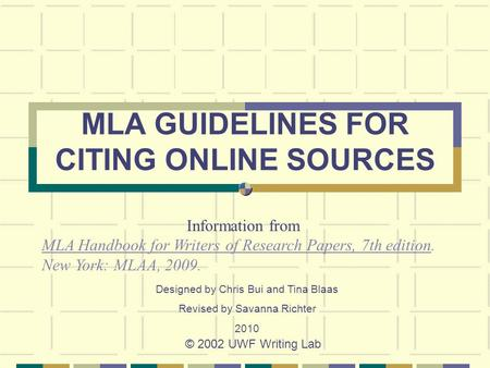 mla guidelines writers research papers Mla format or style is the second most used international standard for writing  academic papers this page summarizes mla format rules for: mla paper layout, .