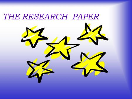 THE RESEARCH PAPER What is a research paper? A research paper is a carefully planned essay that shares information or proves a point.