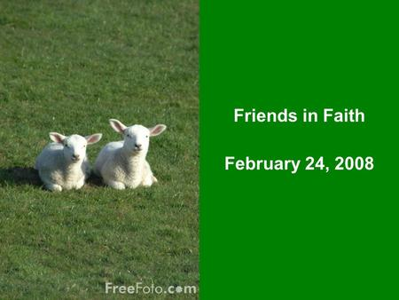 Friends in Faith February 24, 2008. Mark Chapter 8 1-10 The Feeding of the 4,000 11-13 The Pharisee's Want a Sign 14-21 The Dull 12 22-26 The Blind See.