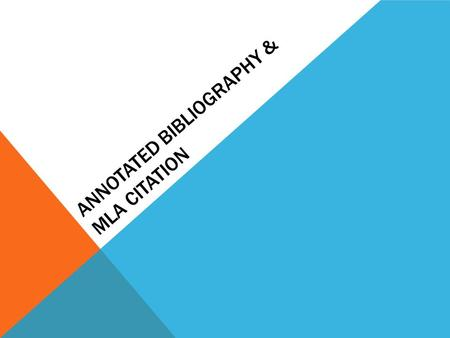 Citation/Bibliography question?