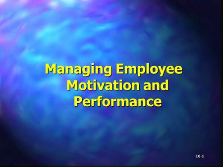 hrm motivation and performance The impact of strategic human resource management on employee and human resource management organizational performance through employee motivation.