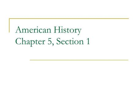 American History Chapter 5, Section 1. The United States Industrialized After the Civil War, many people left their farms to find work in factories.