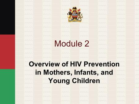 Module 2 Overview of HIV Prevention in Mothers, Infants, and Young Children.