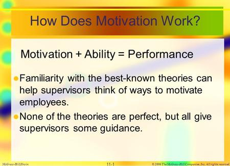 How Does Motivation Work?