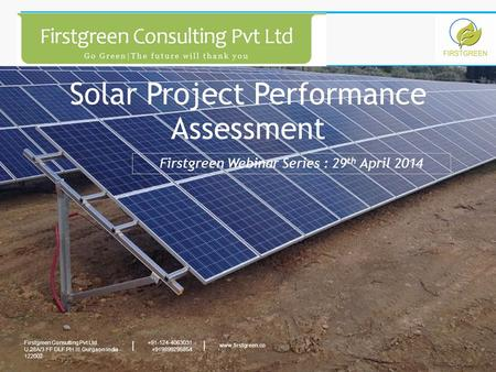 Solar Project Performance Assessment