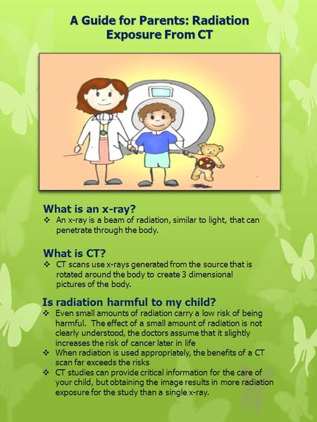 What is CT?  CT scans use x-rays generated from the source that is rotated around the body to create 3 dimensional pictures of the body. What is an x-ray?